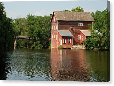 Dells Millpond No.4 Canvas Print by Janice Adomeit