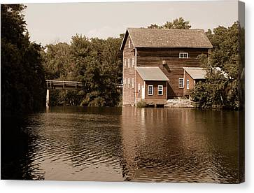 Dells Millpond No.5 Canvas Print by Janice Adomeit