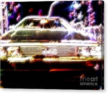 Delorean Fantasy Canvas Print by Renee Trenholm
