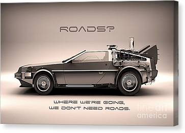 Delorean Canvas Print by Marvin Blaine