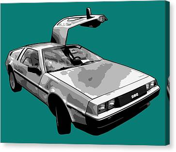 Delorean Pop Canvas Print by Lance Vaughn