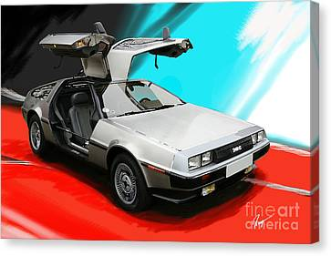 Delorean Canvas Print by Roger Lighterness