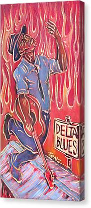 Delta Blues Canvas Print by Robert Ponzio