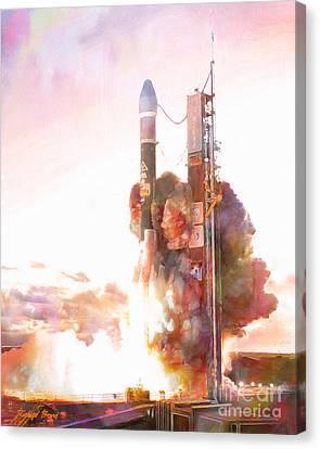 Delta Launch Canvas Print