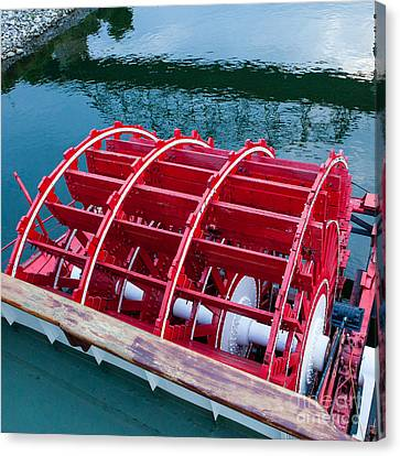 Delta Queen Paddle Wheel Canvas Print by Kay Pickens