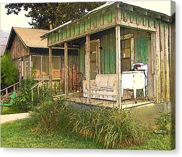 Delta Sharecropper Cabin - All The Conveniences Canvas Print
