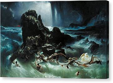 Deluge Canvas Print by Francis Danby