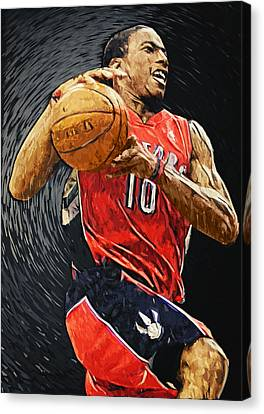 Demar Derozan Canvas Print by Taylan Apukovska