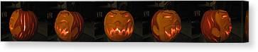 Demented Mister Ullman Pumpkin 2 Canvas Print