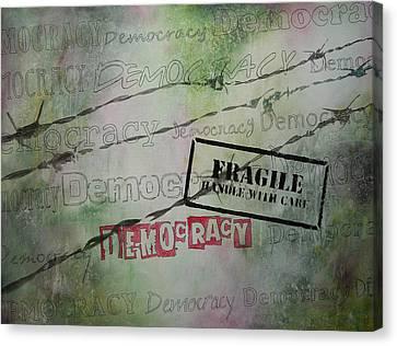 Democracy Canvas Print by Bitten Kari