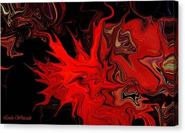 Demon Ocular M Scintillation Canvas Print by Linda Whiteside