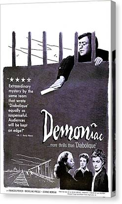 1950s Poster Art Canvas Print - Demoniac, Aka Le Louves, Us Poster by Everett