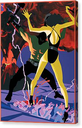Demons  Canvas Print by Clifford Faust