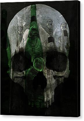 Demons In Bottles  Canvas Print by Empty Wall