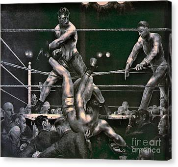 Dempsey And Firpo 1923 Canvas Print