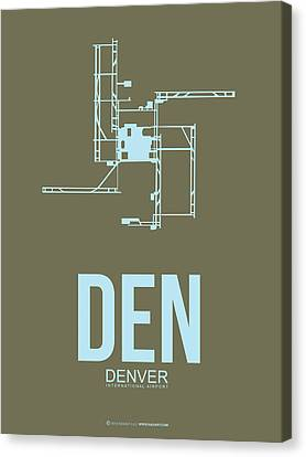 Den Denver Airport Poster 3 Canvas Print by Naxart Studio