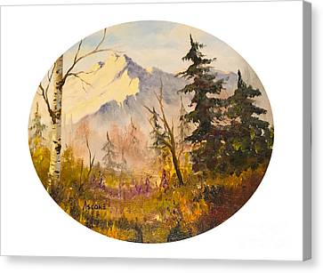 Denali Autumn Canvas Print by Teresa Ascone