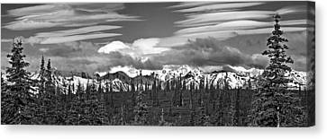 Denali In Clouds Canvas Print