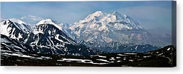 Canvas Print featuring the photograph Denali National Park Panorama by John Haldane