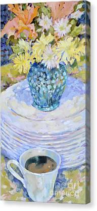 Denby Plates Canvas Print