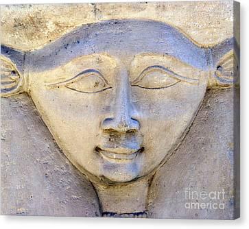 Dendara Carving 2 - Hathor Canvas Print