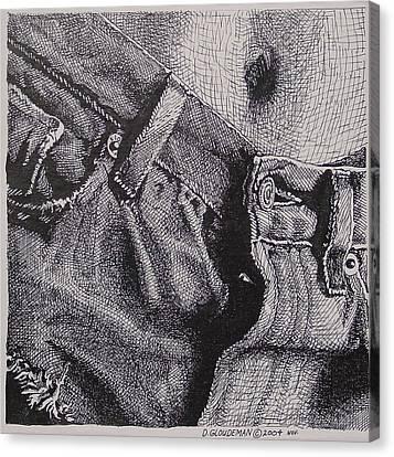 Denim Canvas Print by Denis Gloudeman