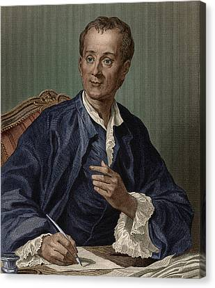 Denis Diderot, French Encyclopedist Canvas Print