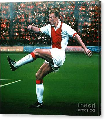 Dennis Bergkamp Ajax Canvas Print by Paul Meijering