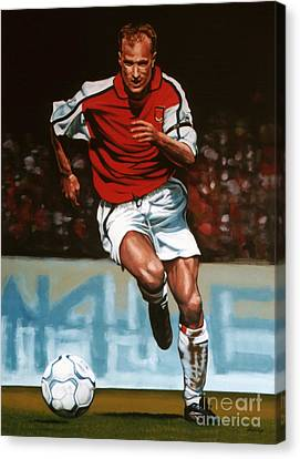 Dennis Bergkamp Canvas Print by Paul Meijering