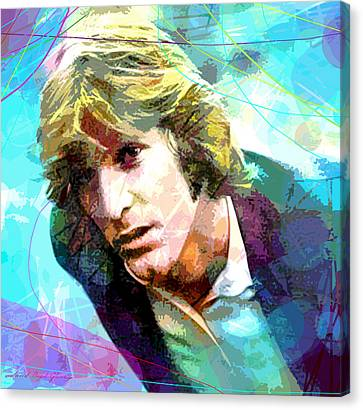 Drummer Canvas Print - Dennis Wilson - Pacific Ocean Blue by David Lloyd Glover