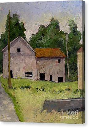 Denniston Mill Remnant Race Canvas Print by Charlie Spear
