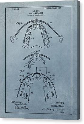 Dental Braces Patent Design Canvas Print