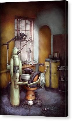 Dentist - Dental Office Circa 1940's Canvas Print by Mike Savad
