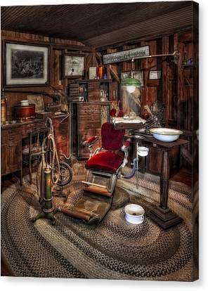 Old Fashioned Canvas Print - Dentist Office by Susan Candelario