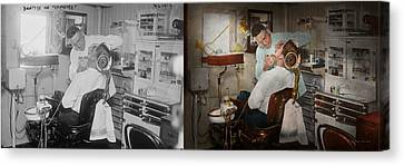 Dentist - The Dental Examination - 1943 - Side By Side Canvas Print by Mike Savad