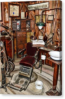 Old Time Canvas Print - Dentist - The Dentist Chair by Paul Ward