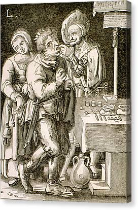 Dentistry In 17th Century France Canvas Print