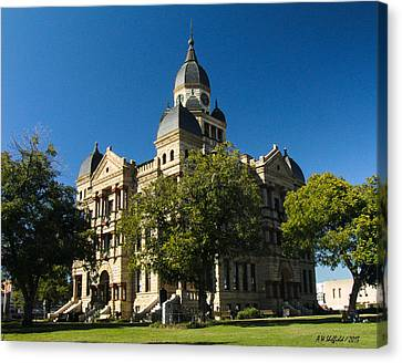 Denton County Courthouse Canvas Print by Allen Sheffield