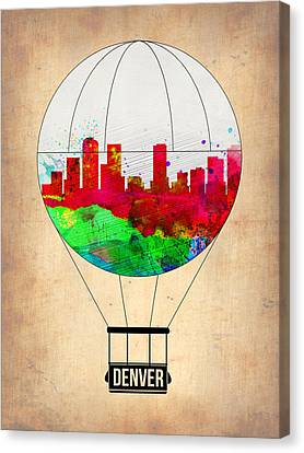 Denver Air Balloon Canvas Print by Naxart Studio