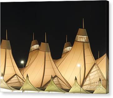 Denver Airport At Night Canvas Print by Juli Scalzi