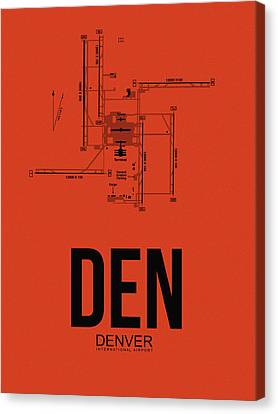 Denver Airport Poster 2 Canvas Print by Naxart Studio