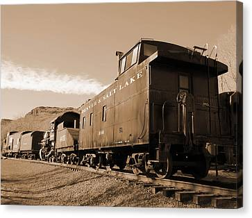 Denver And Salt Lake Caboose Canvas Print