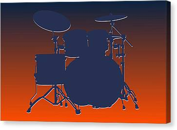 Denver Broncos Drum Set Canvas Print by Joe Hamilton