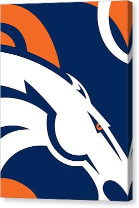 Denver Broncos Football Canvas Print