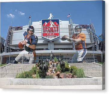 Denver Broncos Sports Authority Field Canvas Print by Joe Hamilton