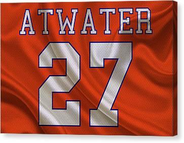 Denver Broncos Steve Atwater Canvas Print by Joe Hamilton