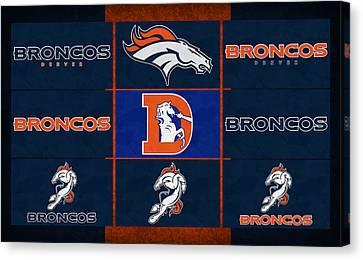 Denver Broncos Uniform Patches Canvas Print by Joe Hamilton