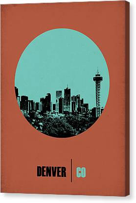 Denver Circle Poster 1 Canvas Print