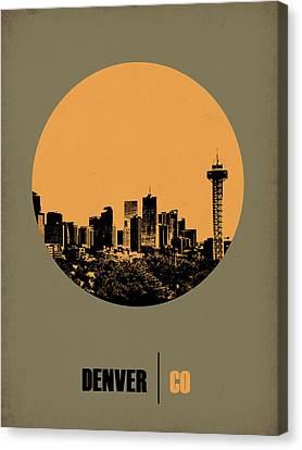 Denver Circle Poster 2 Canvas Print by Naxart Studio
