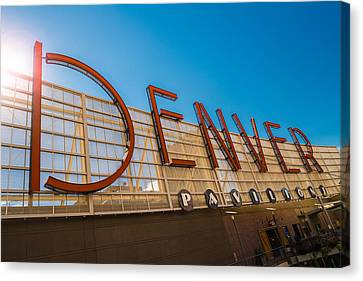 Denver Co Sign Canvas Print by Steve Gadomski